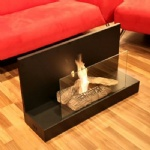 L Shape Free Standing Ethanol Fireplace